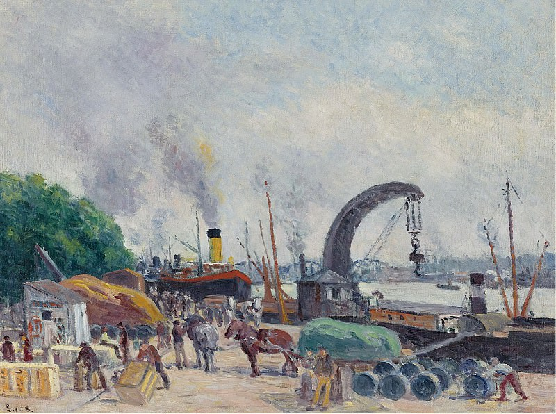 Maximilien Luce - The Quay of Bercy, 1925. Sotheby's