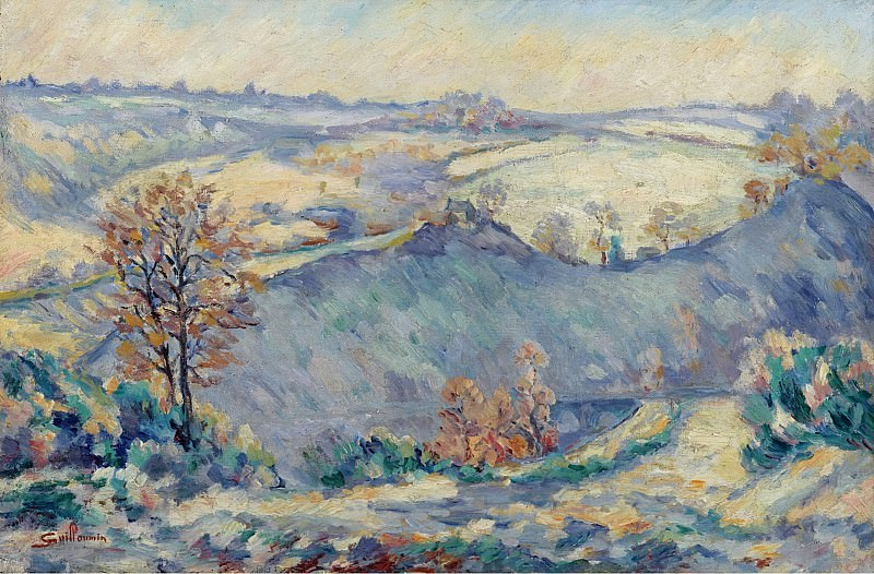 Armand Guillaumin - Crozant, View to Charraud Bridge, 1905. Sotheby's