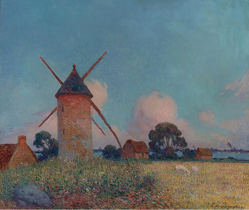 Ferdinand du Puigaudeau - Landscape with Windmills. Картины с аукционов Sotheby's