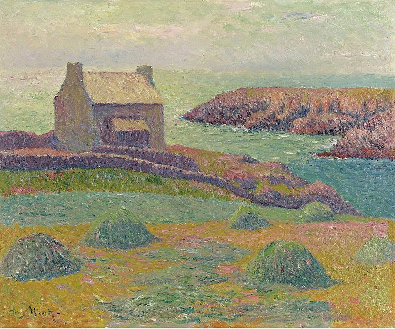 Henry Moret - House on the Hill, 1898. Sotheby's