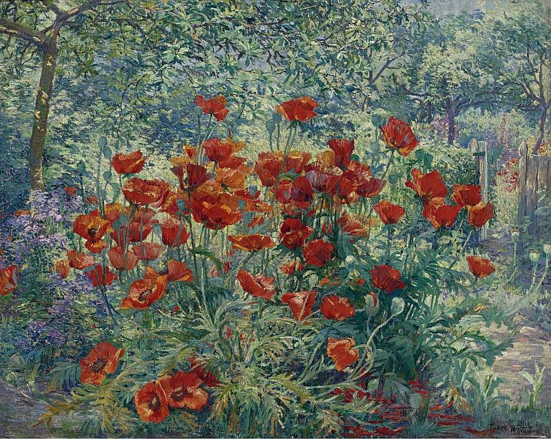 Juliette Wytsman - Flowers Garden. Sotheby's