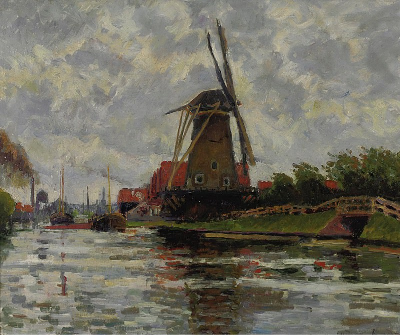 Ludovic Rodo Pissarro - Windmill by the Water. Sotheby's