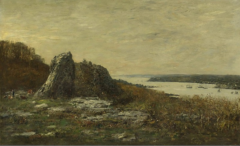 Eugene Boudin - The Outskirts of Brest, the Estuary of the Elorn River, 1873. Sotheby's