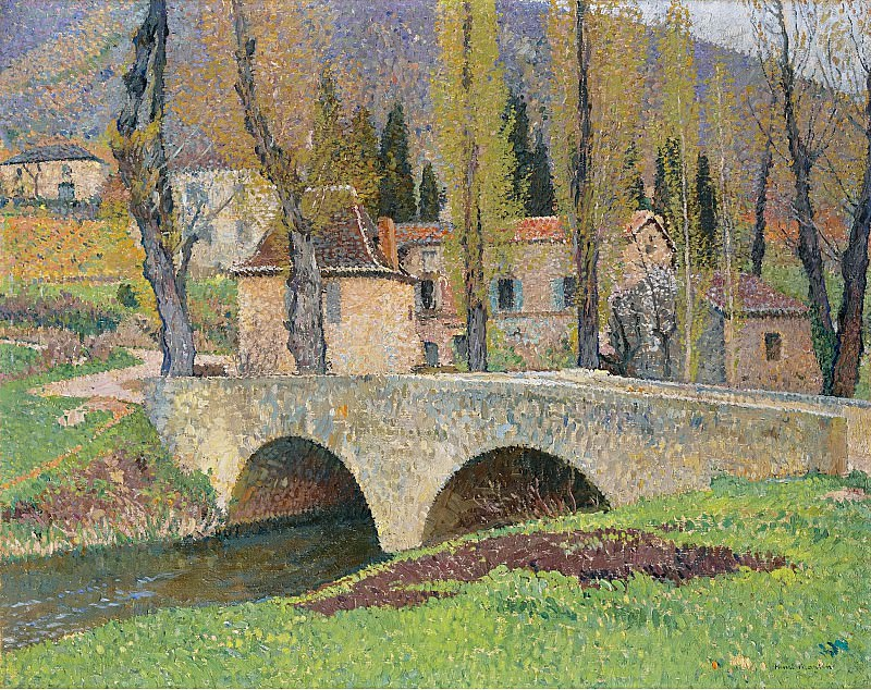 Henri Martin - The Bridge in Labastide-du-Vert, 1930. Картины с аукционов Sotheby's