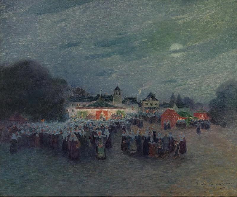 Ferdinand du Puigaudeau - Manege under the Moon. Sotheby's