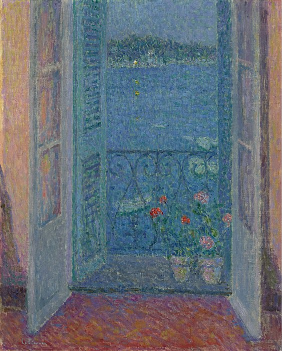 Henri Le Sidaner - Window at Twilight, Villefranche-sur-Mer, 1926. Sotheby's