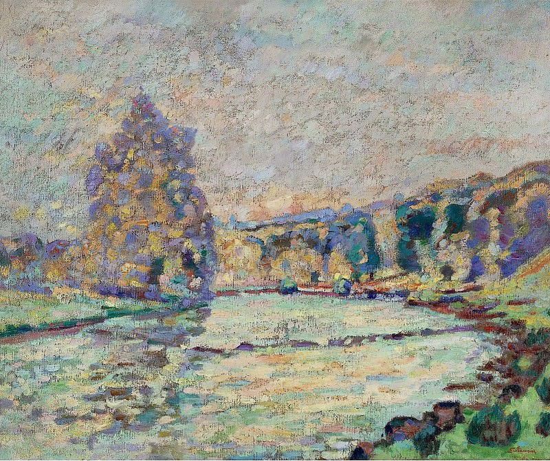 Armand Guillaumin - The River of Creuse at Genetin, 1905. Sotheby's