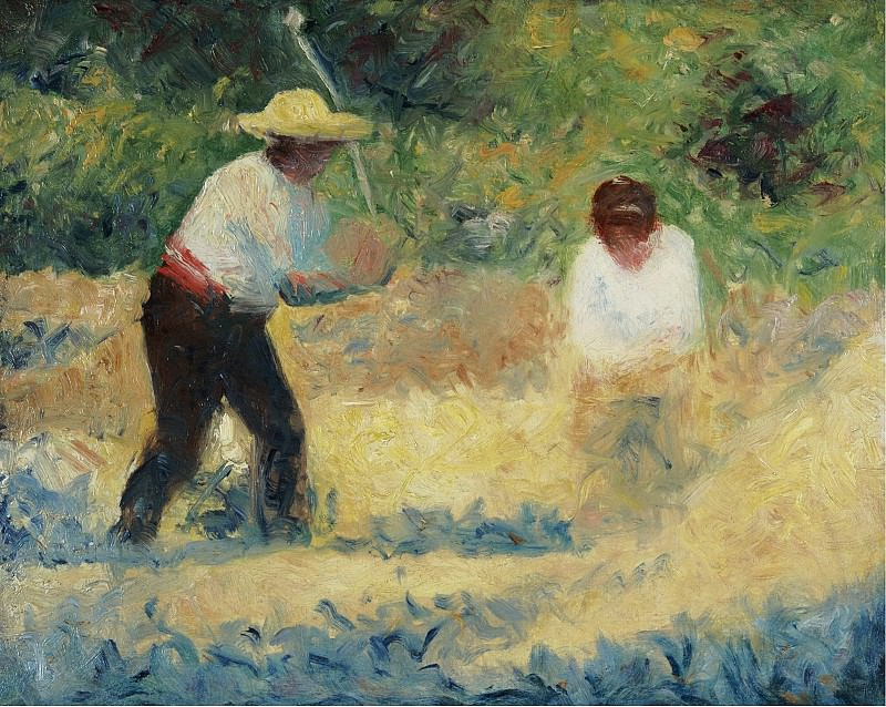 Georges Seurat - Carrying Stones, 1884. Sotheby's