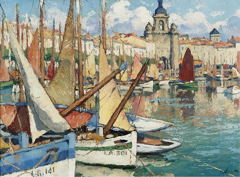 Gaston Balande - The Port of La Roshelle. Картины с аукционов Sotheby's
