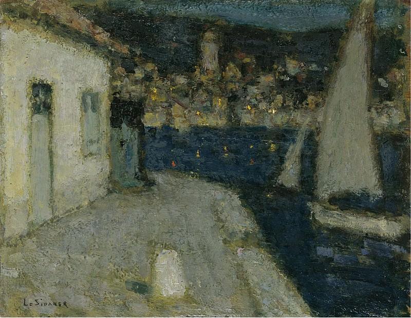 Henri Le Sidaner - The Boats, Saint-Jean-Cap-Ferrat, 1910. Sotheby's