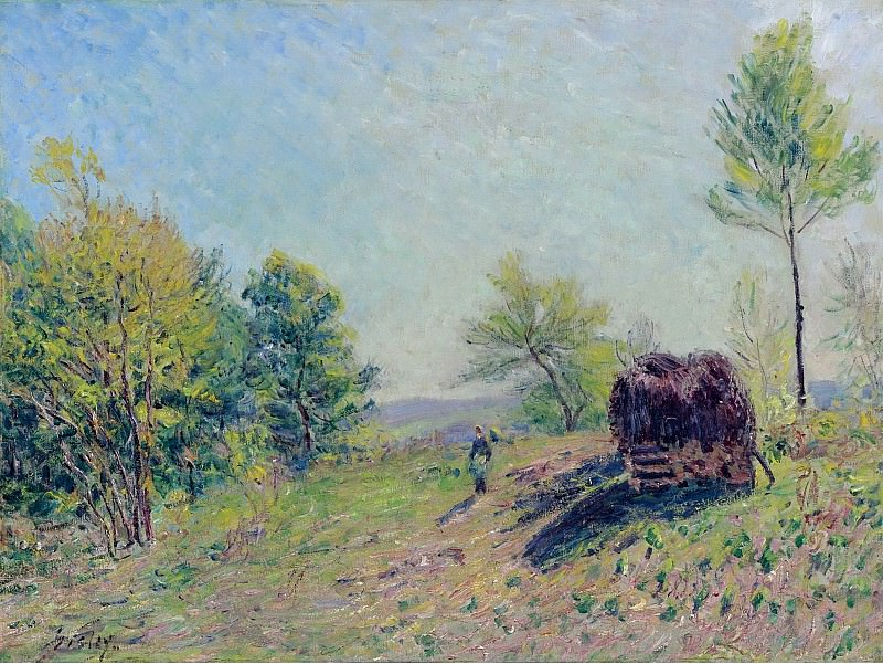 Alfred Sisley - Going to the Forest in Spring, 1886. Sotheby's