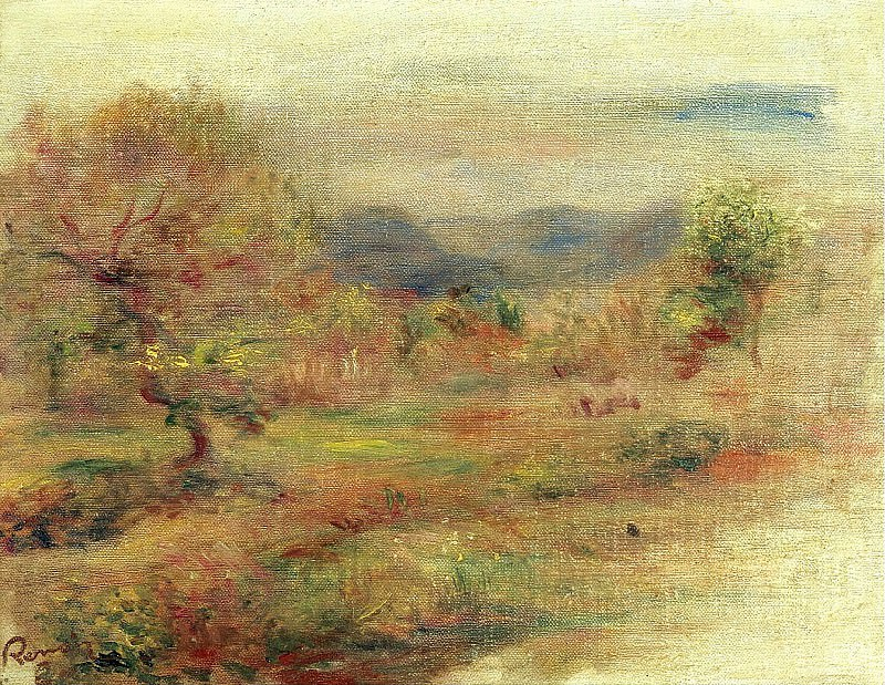 Pierre Auguste Renoir - Landscape in Red, 1900-10. Sotheby's