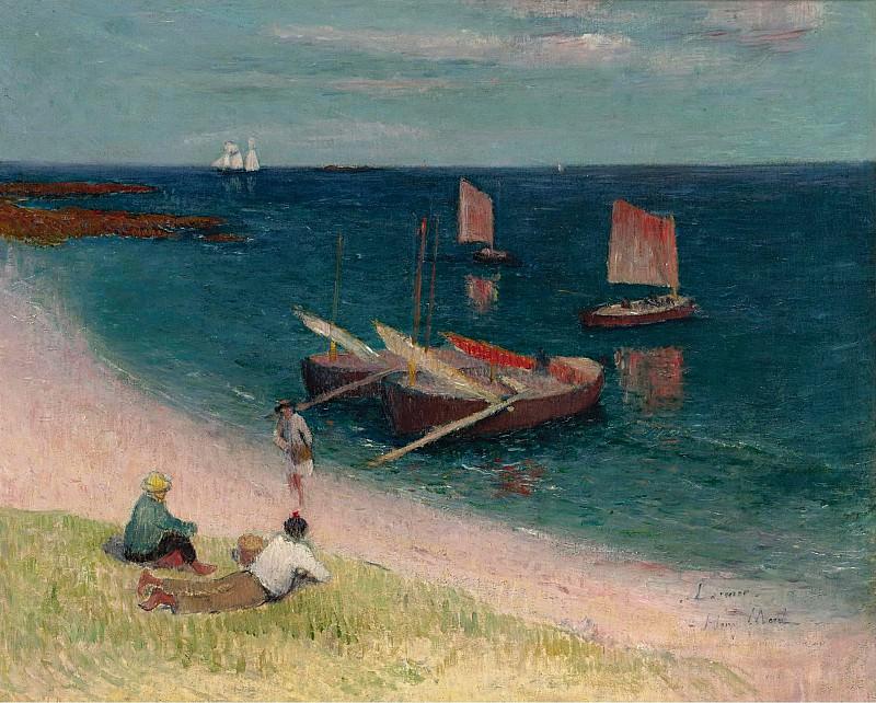 Henry Moret - La Cote dArmor, Plage, 1893. Sotheby's