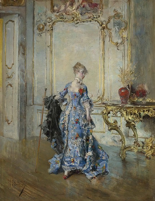 Giovanni Boldini - The Last Glance in the Mirror. Картины с аукционов Sotheby's