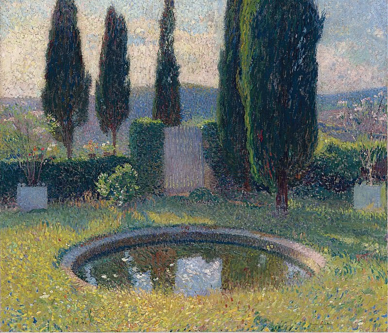 Henri Martin - Little Pool in the Interior of Park of Marquayrol to the Southwest (Early Summer). Sotheby's