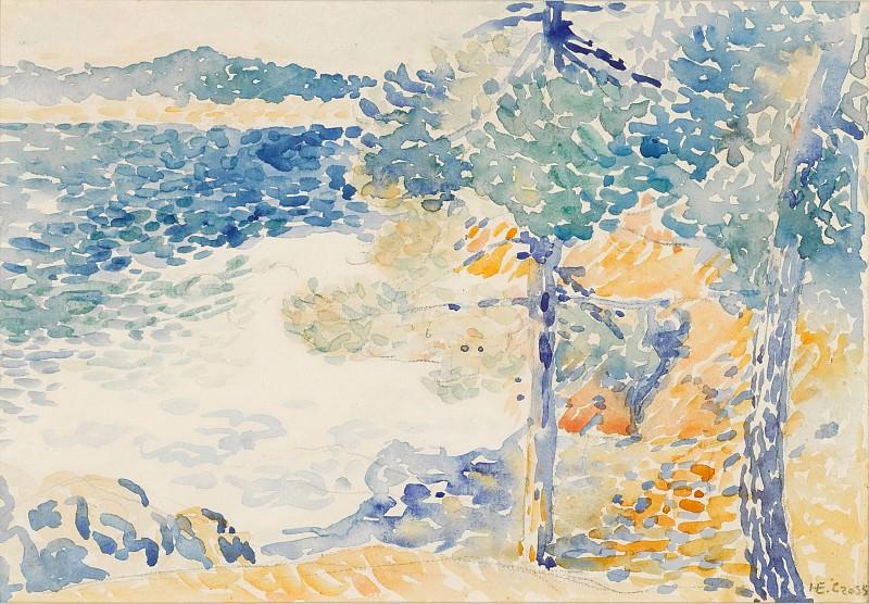 Henri Edmond Cross - Landscape, Saint Clair. Sotheby's