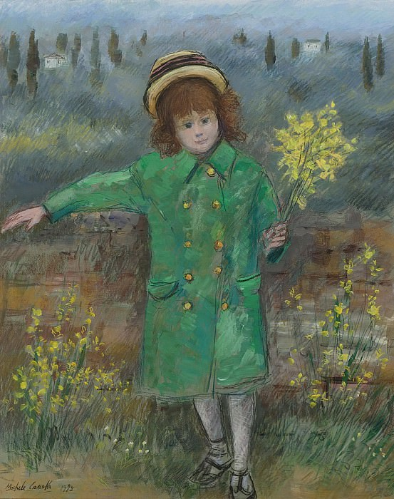 Michele Cascella - Little Girl in Green, 1972. Sotheby's