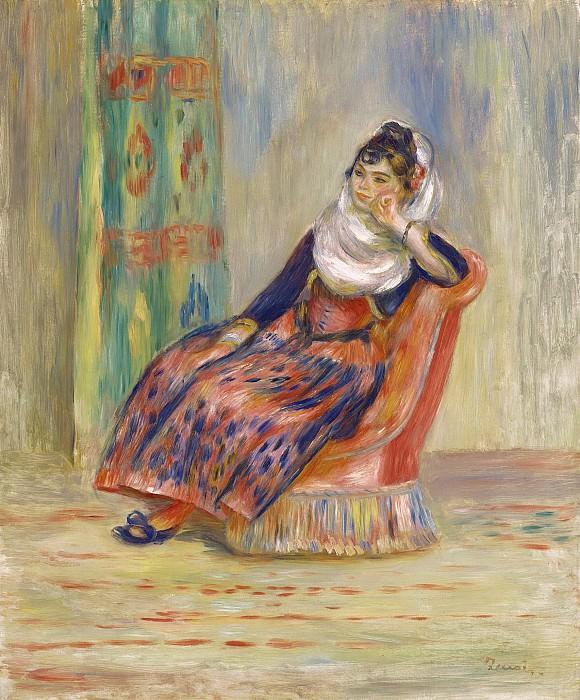 Pierre Auguste Renoir - Algerian Woman, 1881. Картины с аукционов Sotheby's