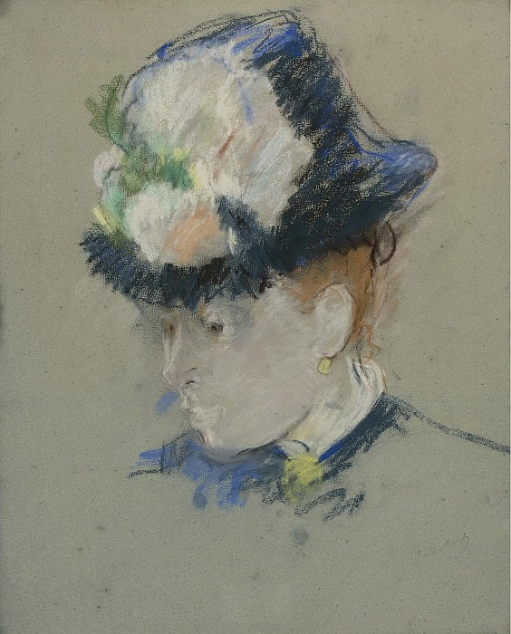 Berthe Morisot - Head of English Woman, 1884-85. Картины с аукционов Sotheby's