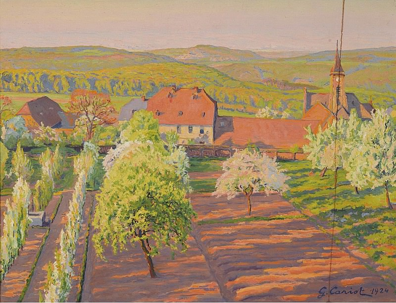 Gustave Cariot - Spring at Georgenborn, 1924. Sotheby's