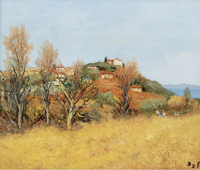 Marcel Dyf - The Hill of Gaude, 1975. Sotheby's