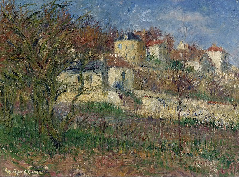 Gustave Loiseau - The Hills of Hermitage, Pontoise, 1930. Sotheby's