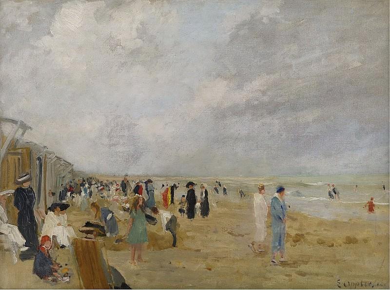 Ernst Oppler - At the Beach. Картины с аукционов Sotheby's