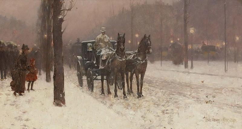 Гассам, Чайльд Фредерик- Paris, Winter Day, 1877. Картины с аукционов Sotheby's