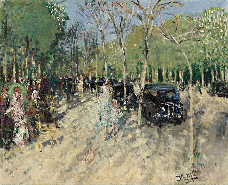 Монтезин, Пьер Эжен - Spring at the Forest, 1929. Картины с аукционов Sotheby's