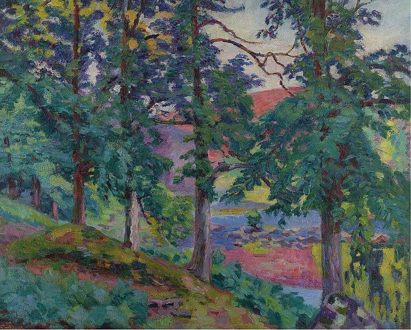 Armand Guillaumin - Landscape of the Creuse, 1910. Sotheby's