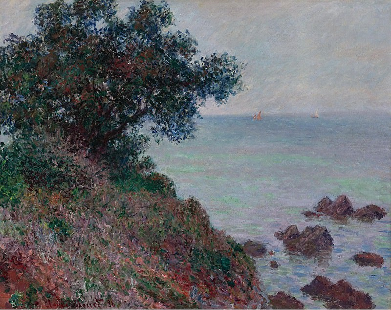 Claude Monet - Mediterannian Coast, Grey Weather, 1888. Sotheby's