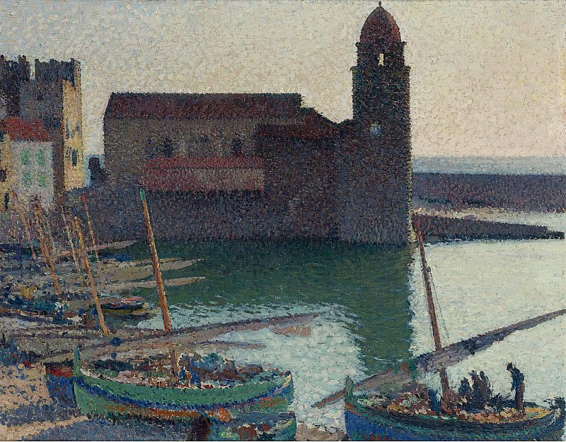 Henri Martin - The Port of Collioure. Sotheby's