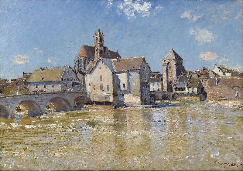 Alfred Sisley - The Bridge of Moret, April Morning, 1888. Sotheby's