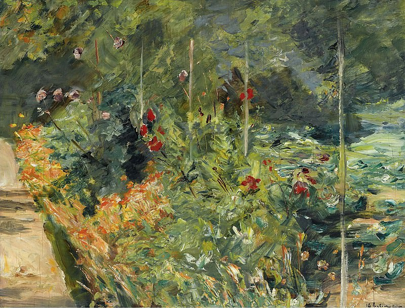 Max Liebermann - The Garden to the West of Wannsee, 1920. Sotheby's
