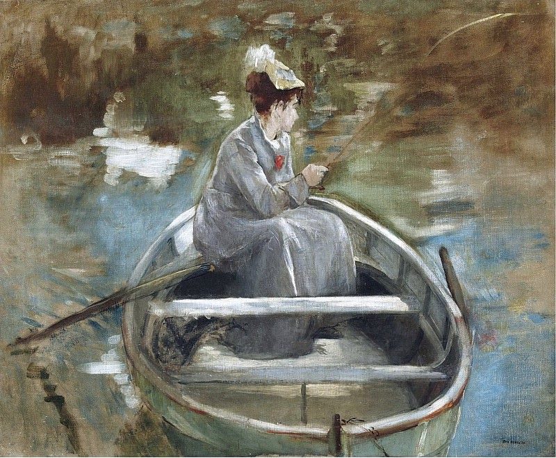 Eva Gonzales - In the Boat. Sotheby's