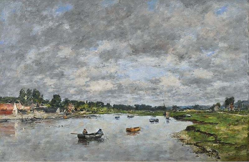 Eugene Boudin - La Touques a Trouville, 1871. Sotheby's