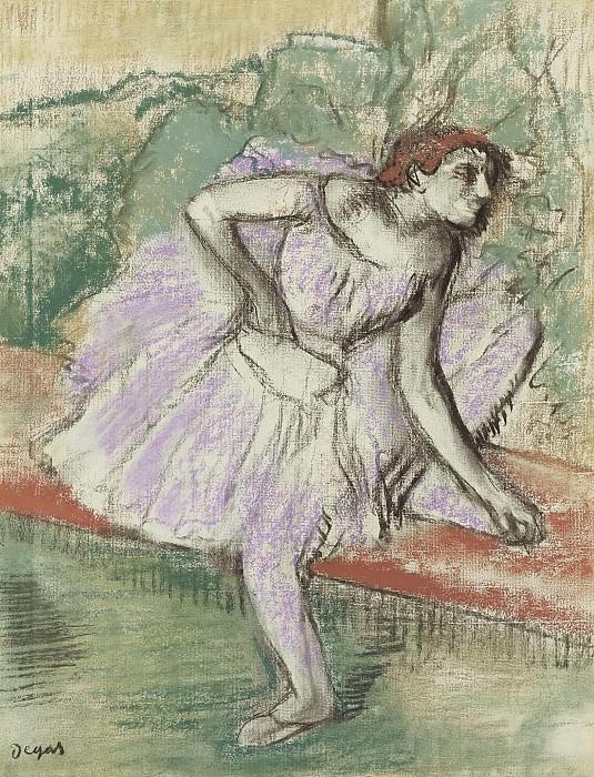 Edgar Degas - The Dancer in Violet, 1895-98. Sotheby's