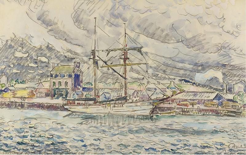 Paul Signac - The Port of Paimpol, Bretagne, 1929. Sotheby's