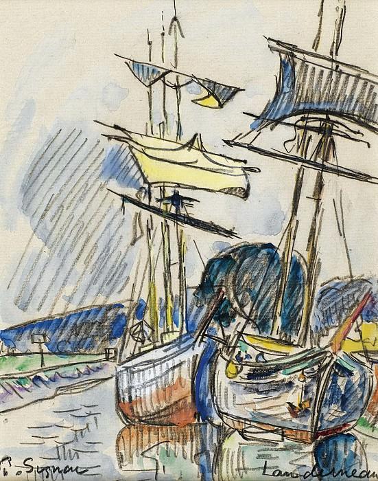 Paul Signac - Landerneau, 1925. Sotheby's