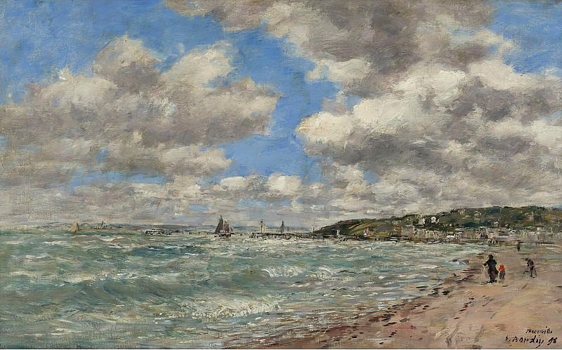 Eugene Boudin - Shore of Deauville, 1896. Sotheby's