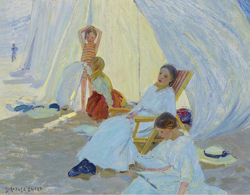 Dorothea Sharp - A Day at the Sea. Картины с аукционов Sotheby's