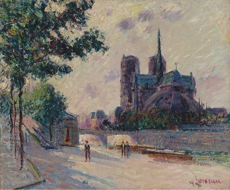 Gustave Loiseau - Notre-Dame de Paris, 1911. Sotheby's