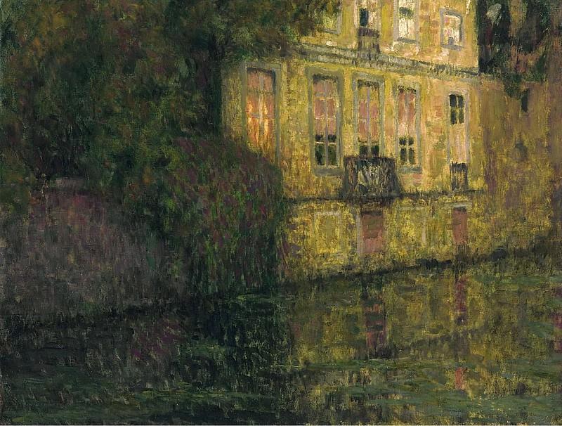 Henri Le Sidaner - The Quay in Green, Bruges, 1930. Картины с аукционов Sotheby's