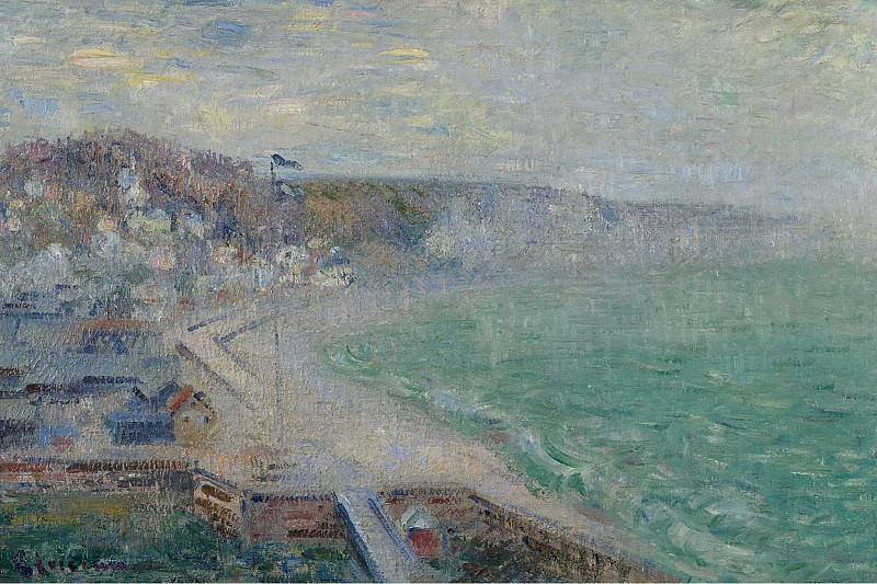 Gustave Loiseau - The Beach of Fecamp, 1925. Sotheby's