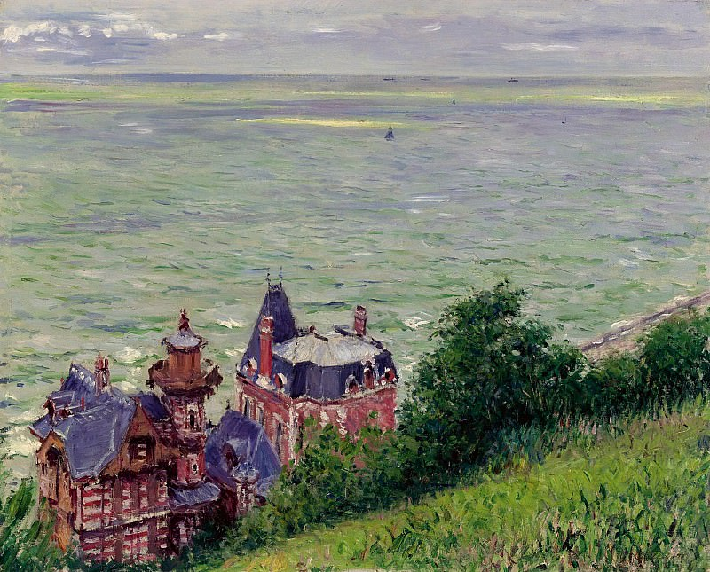 Gustave Caillebotte - Villas at Trouville, 1884. Sotheby's