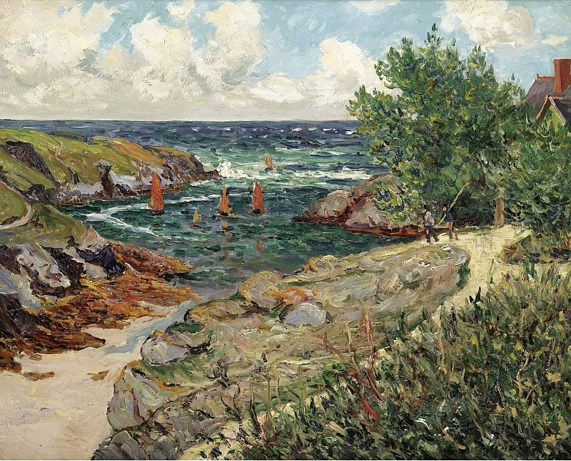 Maxime Maufra - The Port of Goulphar, Belle-Ile-en-Mer, 1909. Sotheby's