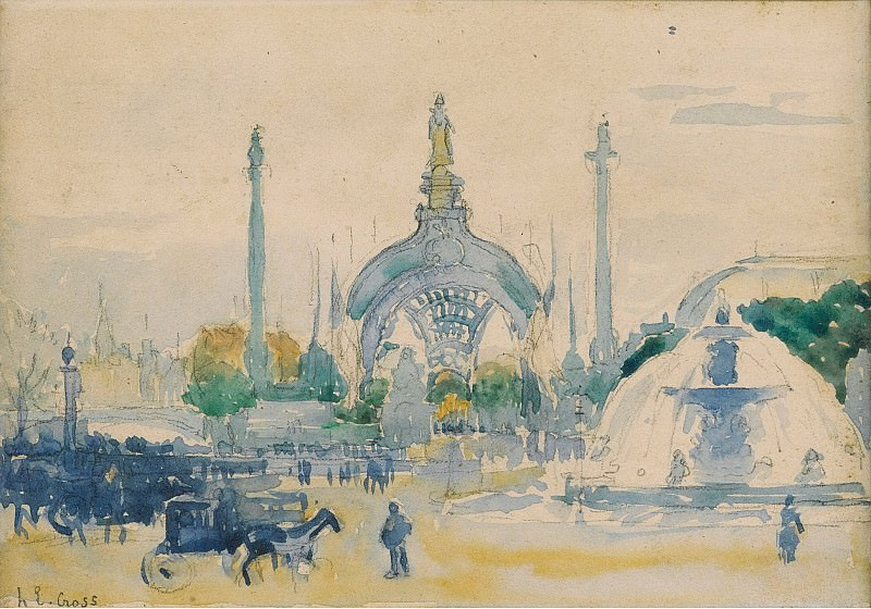 Henri Edmond Cross - The Concorde Square during the World Exposition, 1900. Sotheby's