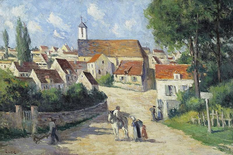 Maximilien Luce - Guernes, Village Street. Sotheby's