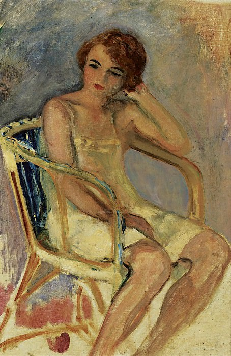 Henri Lebasque - Young Woman Seated. Sotheby's