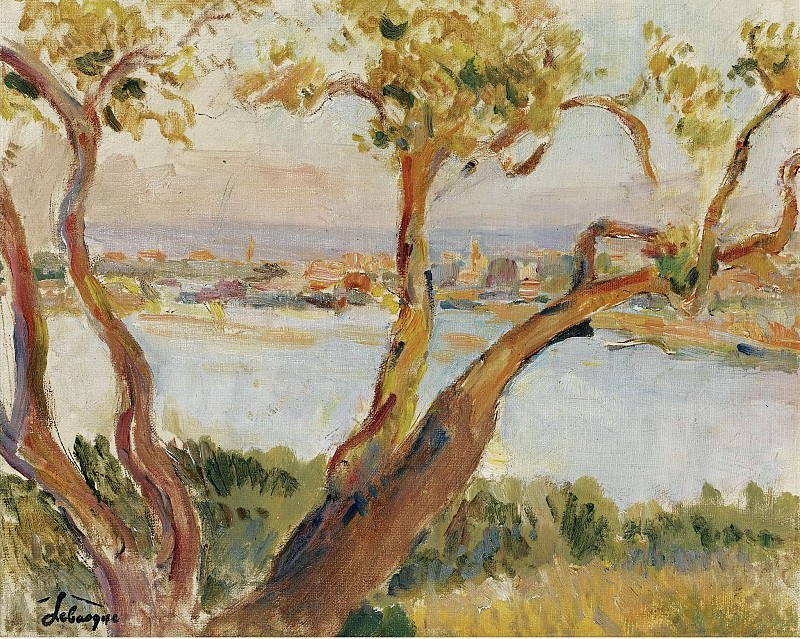 Henri Lebasque - View of Antibes. Sotheby's